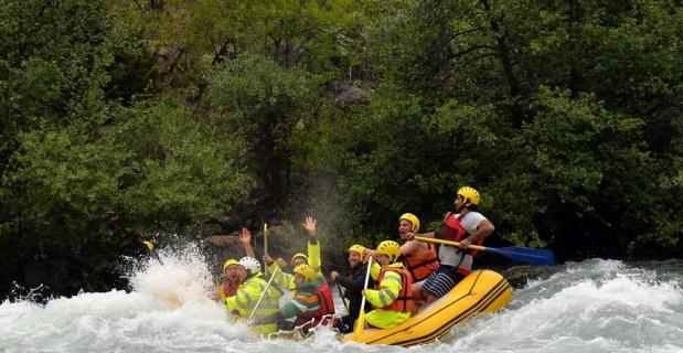 Munzur Çayı'nda rafting sezonu başladı