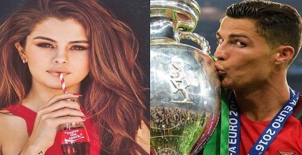 Ronaldo, ABD'li yıldız Selena Gomez'i tahtından indirdi