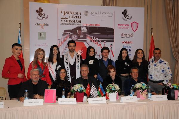 Bakü'de Sinema Güzeli seçtiler, Azerbaycan'dan...