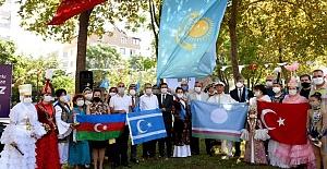 Türk Dünyası Antalya'da KazakAbay Kunanbayoğlu'nun park açılışındaydı