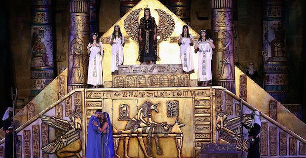 Aspendos Antik Tiyatrosu'nda 'Aida' operası sahnelendi