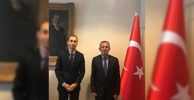 Londra Başkonsolosu Bekir Utku Atahan'a, Nuri Bulgurcu'dan Hoşgeldiniz ziyareti